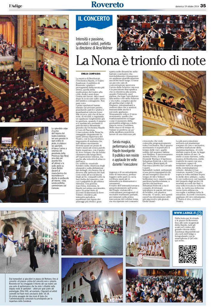 Fonte: l'Adige, 19/10/2014
